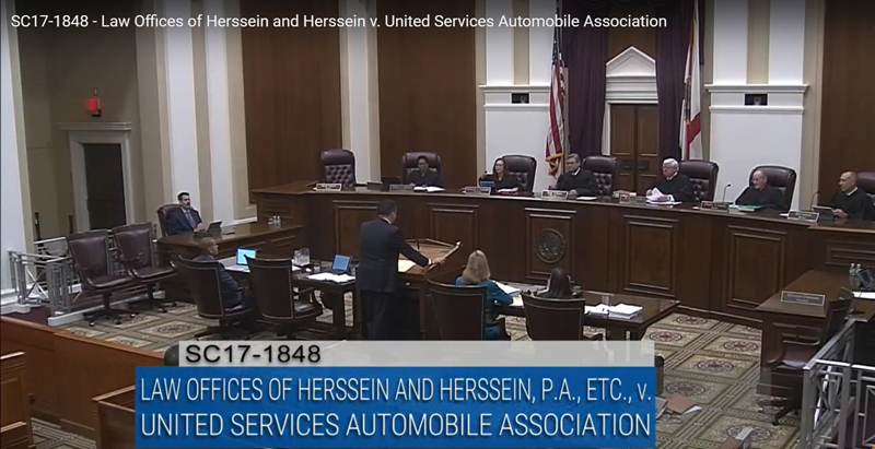 SC17-1848 - Law Offices of Herssein and Herssein v. United Services Automobile Association